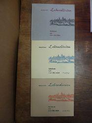 Heym, Heinrich,  Lebenslinien - Zwölf Schicksale aus einer alten Stadt [Band 1] / Lebenslinien - Neue Folge [Band 2] / Lebenslinien - Dritte Folge [Band 3], 3 Bände (= alles), (alle 3 Bände signiert),