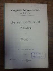 Gotthardt, Otto,  Über die Traumbücher des Mittelalters, Beilage zum Jahresbericht, Königliches Luthergymnasium zu Eisleben,