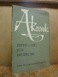 Bender, Hans (Hrsg.),  Akzente - Zeitschrift für Literatur, 2 Jahrgang, Heft 2 / 1955,