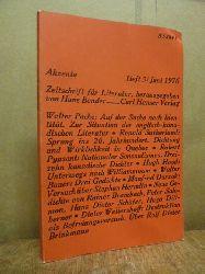 Bender, Hans (Hrsg.),  Akzente - Zeitschrift für Literatur, Heft 3 / 1976,
