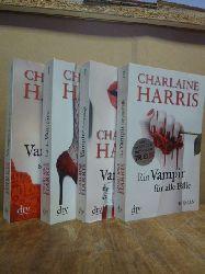 Harris, Charlaine,  Konvolut von vier Romanen aus der Susie-Stackhouse-/True-Blood-Serie: Band 5, 6, 7 und 8: Vampire bevorzugt / Ball der Vampire / Vampire schlafen fest / Ein Vampir für alle Fälle,
