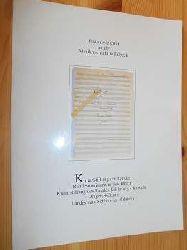 Brahms, Johannes:  Brahms-Institut an der Musikhochschule Lübeck. Johannes Brahms Klavierquartett A-Dur op. 26 Autograph. (= Patrimonia, Heft 53)