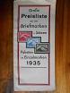 Große Preisliste über echte Briefmarken der ganzen Welt in Sätzen, Paketen und Einzelmarken 1935.