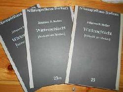 Becher, Johannes R.:  Johannes R. Becher: Winterschlacht. Schlacht um Moskau. Band 1: Text des Schauspiels; Band 2: Begleitende Fotos und Texte.; (= Schauspielhaus Bochum Programmbuch Nr. 23 / I u. 23 / II)
