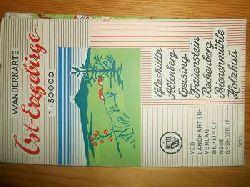 Karthographischer Dienst Potsdam:  Wanderkarte Ost-Erzgebirge. Glashütte, Altenberg, Geising, Frauenstein, Rechenberg, Bienenmühle, Holzhau. Maßstab 1: 30.000. (farbige Faltkarte)