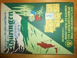 Karthographischer Dienst Potsdam:  Wander- u. Wintersportkarte Thüringen. Blatt 3. Arnstadt, Ilmenau, Bad Blankenburg. Maßstab 1 : 50.000. (farbige Faltkarte)