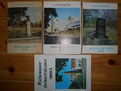 Deutscher Kulturbund (Hrsg.):  Rathenower Heimatkalender. Beiträge zur Heimatkunde. 1) 32. Jg. 1988; 2) 33. Jg. 1989; 3) 34. Jg. 1990; 4) 47. Jg. 2003. (4 Hefte) (zus. EURO 50,00 u. Porto EURO 2,40) Einzelpreis ab: