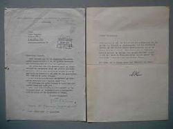 Weisenborn, Günther / Bruno Henschel:  Briefwechsel Günther Weisenborn an Bruno Henschel - Henschelverlag (2 Briefe) von 1961.
