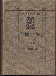 Laßwitz, Kurd  Wirklichkeiten. Beiträge zum Weltverständnis. 3. verbesserte Auflage.