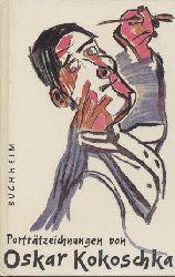 """Kokoschka, Oskar - Wingler, Hans-Maria (Hrsg.)  Künstler und Poeten. Zeichnungen. Literarische Porträtskizzen von Herwarth Walden, Else Lasker-Schüler und anderen Schriftstellern aus dem Künstlerkreis """"Der Sturm"""". Ausgewählt u. eingeleitet v. Hans-Maria Wingler."""
