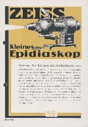 Zeiss, Carl  Kleines Zeiss-Epidiaskop. Zeiss-Druckschrift Mikro 434. Prospekt.