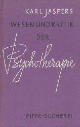 Jaspers, Karl  Wesen und Kritik der Psychotherapie. 13.-19. Tsd.