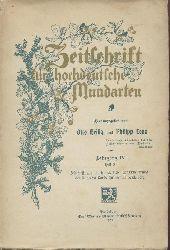 Heilig, Otto u. Philipp Lenz (Hrsg.)  Zeitschrift für hochdeutsche Mundarten. Jahrgang IV, Heft 3: Festschrift zur Jahrhundertfeier der Erneuerung der Ruprecht Karls-Universität Heidelberg durch Karl Friedrich (5.-9. August 1903).