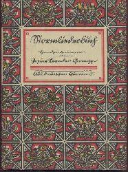 Storm, Theodor - Gampp, Josua Leander  Stormliederbuch. Handzeichnungen von Josua Leander Gampp.