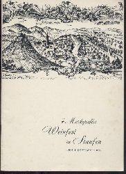Ständiger Ausschuss des Markgräfler Weinfestes u. Stadt Staufen (Hrsg.)  Siebtes Markgräfler Weinfest in Staufen. 1. bis 4. September 1967. Festschrift und Programm.