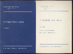 Afer, Publius Terentius - Terenz - Terence  Andria. Textbearbeitung, Einleitung und Personenverzeichnis. Hrsg. von Andreas Thierfelder. 2 Teile.