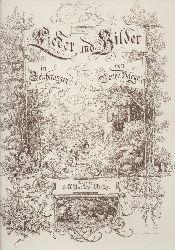 Bagge, Bertha  Lieder und Bilder in Zeichnungen. Illustrationen zu Gedichten.