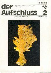Der Aufschluss. Zeitschrift für die Freunde der Mineralogie und Geologie. Jg. 28 in 11 Heften.