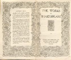 Shakespeare, William  Works. Plays and Poems. 4 Bände.