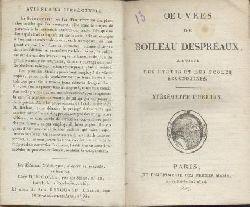 Boileau Despréaux, Nicolas  Oeuvres. À l