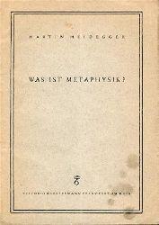 Heidegger, Martin  Was ist Metaphysik?