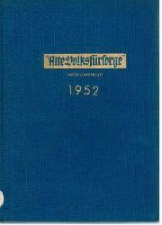 """""""Alte Volksfürsorge"""" (Hrsg.):  """"Alte Volksfürsorge"""". Mitteilungsblatt. Jahrgang 1952."""