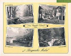 Fritzsching, Alfred, Otto Kock Otto C. Schuster u. a.:  4 Bayrische Maler. A. Fritzsching, O. Kock, C.O. Schuster, R. Sonnleitner. Gemälde Cabinett Unger.