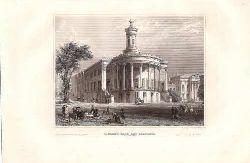 Alte Stadtansicht / Graphik:  Philadelphia: Girard`s Bank and Exchange.