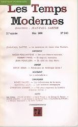 Satre, Jean Paul:  Les Temps Modernes. 21e annee, Mai 1966, N° 240