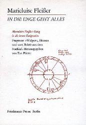 """Fleißer, Marieluise:  In die Enge geht alles : Marieluise Fleissers Gang in die innere Emigration ; Fragment """"Walper"""", Skizzen u. 2 Briefe aus dem Nachlass."""