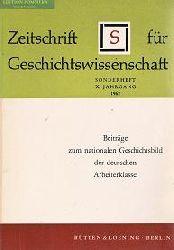 Beiträge zum nationalen Geschichtsbild der deutschen Arbeiterklasse