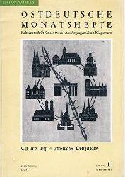 Rauschenbusch, Helmut (Hrsg.):  Ostdeutsche Monatshefte. 28 Jg., Februar 1962, Heft 1.