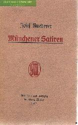 Ruederer, Josef:  Münchener Satiren