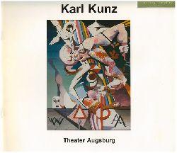 Kunz, Karl (Ill.) und Wolfgang Kunz  (Hrsg.):  Karl Kunz (1905 - 1971) : 15 Gemälde zum 100. Geburtstag des Augsburger Künstlers ; Ausstellung im Foyer des Theaters Augsburg, 20. November 2005 bis 15. Januar 2006.