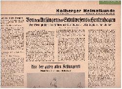 Hrsg. Verein für Heimatkunde (Kolberg):  Kolberger Heimatkunde