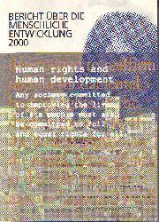 Bericht über die menschliche Entwicklung 2000.