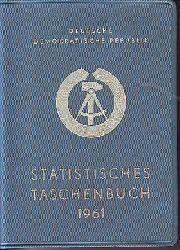 Statistisches Taschenbuch 1961 Deutschen Demokratischen Republik. DDR.