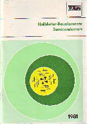 Halbleiter-Bauelemente. Semiconductors. RFT. 1981.