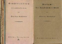 """Rathenau, Walther  12 Titel / 1. Probleme der Friedenswirtschaft (Vortrag, gehalt. in der """"Deutschen Gesellschaft 1914"""" am 18.Dezember 1916)"""