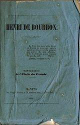 Anonym  Henri de Bourbon (Propagande de l`Etoile du Peuple)