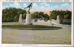 Ansichtskarte / Postcard Spanish War Veterans Monument and World War Memorial Brifge (Binghamton N.Y.)