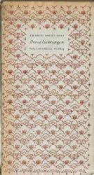 Baudelaire, Charles  Konvolut mit 7 Titeln / 1. Prosadichtungen (übersetzt v. W. Küchler)