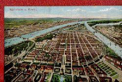Ansichtskarte Mannheim am Rhein a.d. Vogelperspektive