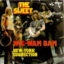 THE SWEET:  3 Single-Platten / 1. Poppa Joe + Jeanie (RCA 74-16136 v. 1972) // 2. Wig-Wam Bam + New York Connection (RCA 74-16209 v. 1972) // 3. Blockbuster + Need a lot of Lovin (RCA 74-16235 v. 1972) (Single-Platten 45UpM)