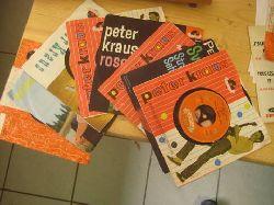 Kraus, Peter  Sammlung von 8 Single Platten / 1. Sugar Baby / Ich denk an dich Single 45UpM