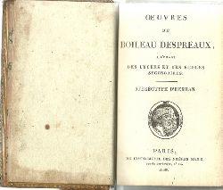 Boileau-Despreaux, (Nicolas)  Oeuvres de Boileau Despreaux, a l`usage des lycees et des ecoles secondaires / Stereotype D`Herhan