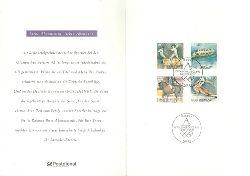 """Serie """"Für den Sport"""" (4 farbige Briefmarken montiert)"""