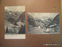 2 Ansichtskarten betitelt: Gruss aus Einödsbach im bayrischen Allgäu (Deutschlands südlichster Ort 1142 m.ü.M.)