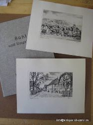 Bühl - Strehlisch:  Bühl und Umgebung (Historische Radierungen)