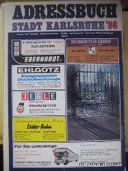 ohne Autor  Karlsruhe, Adressbuch der Stadt Karlsruhe von 1986
